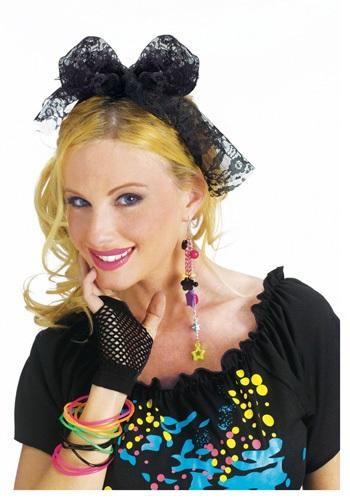80's Lace Costume Headband